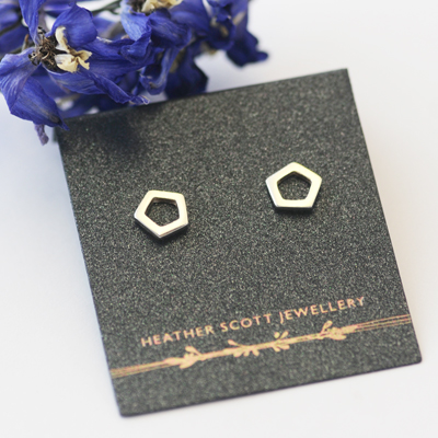 Pentagon earrings